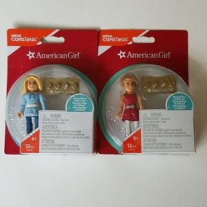 American Girl Mega Construx Collection Two Dolls